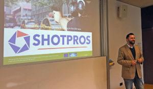 Markus Murtinger (project coordinator) presenting SHOTPROS