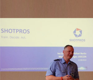Presentation of SHOTPROS at the police president in berlin